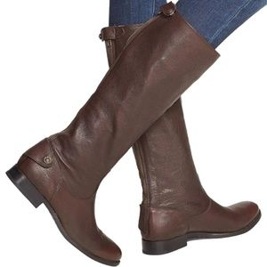 Frye Melissa Button Back Zip Brown Boot size 7